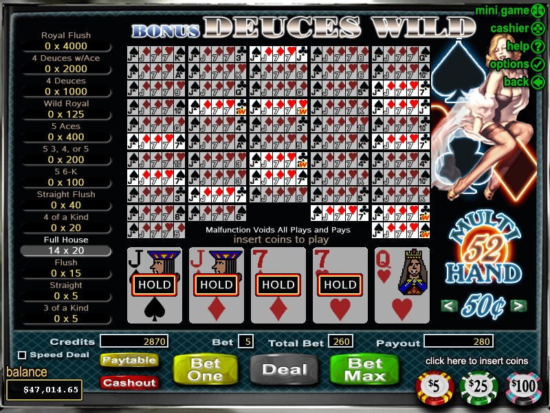 Deuces Wild Video Poker Multi Hand
