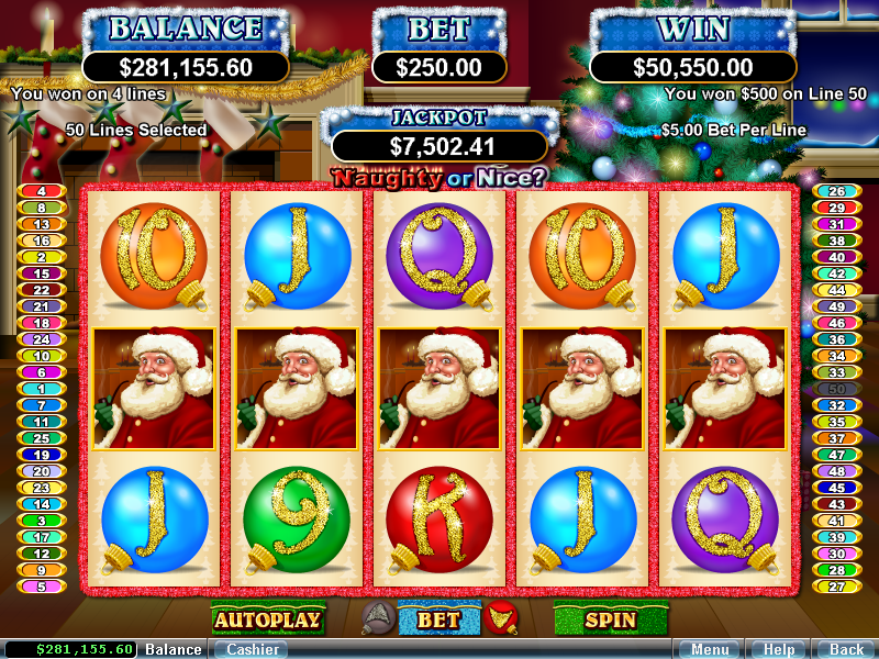 Naughty Or Nice Video Slot